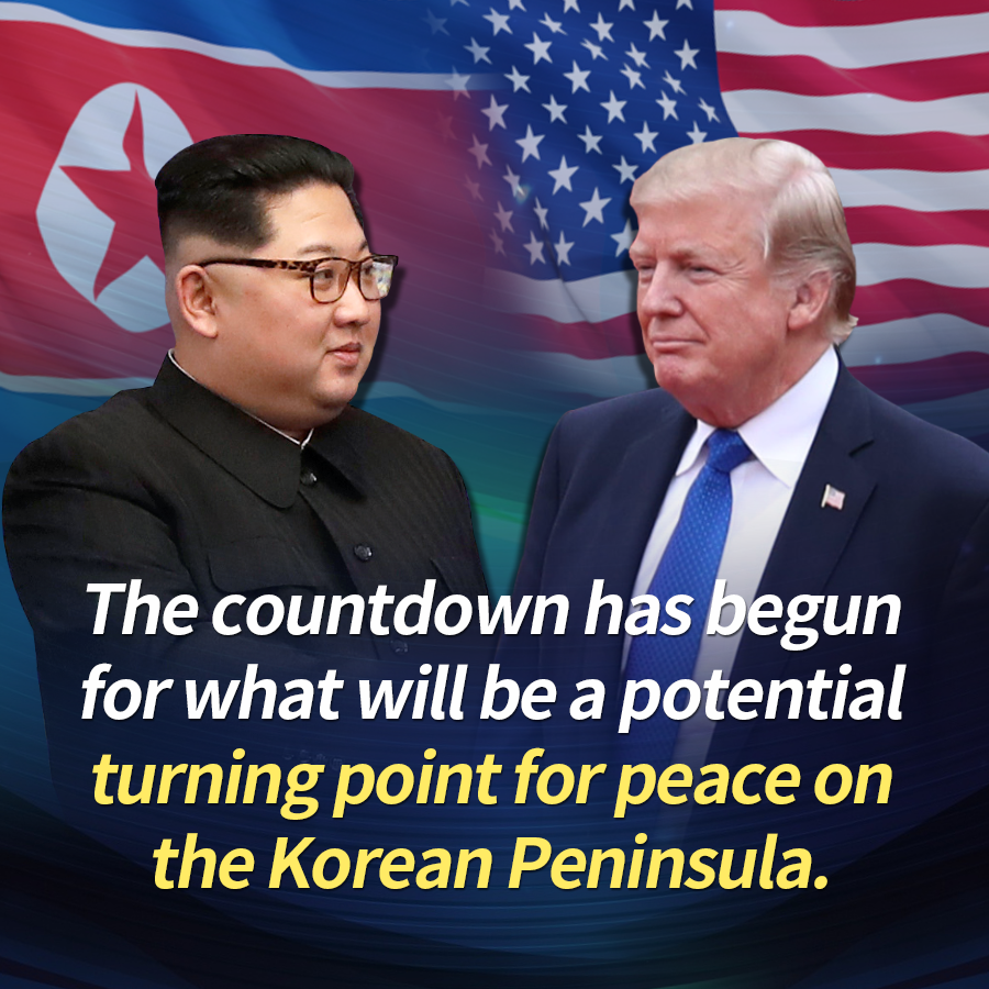 The countdown has begun for what will be a potential turning point for peace on the Korean Peninsula.
