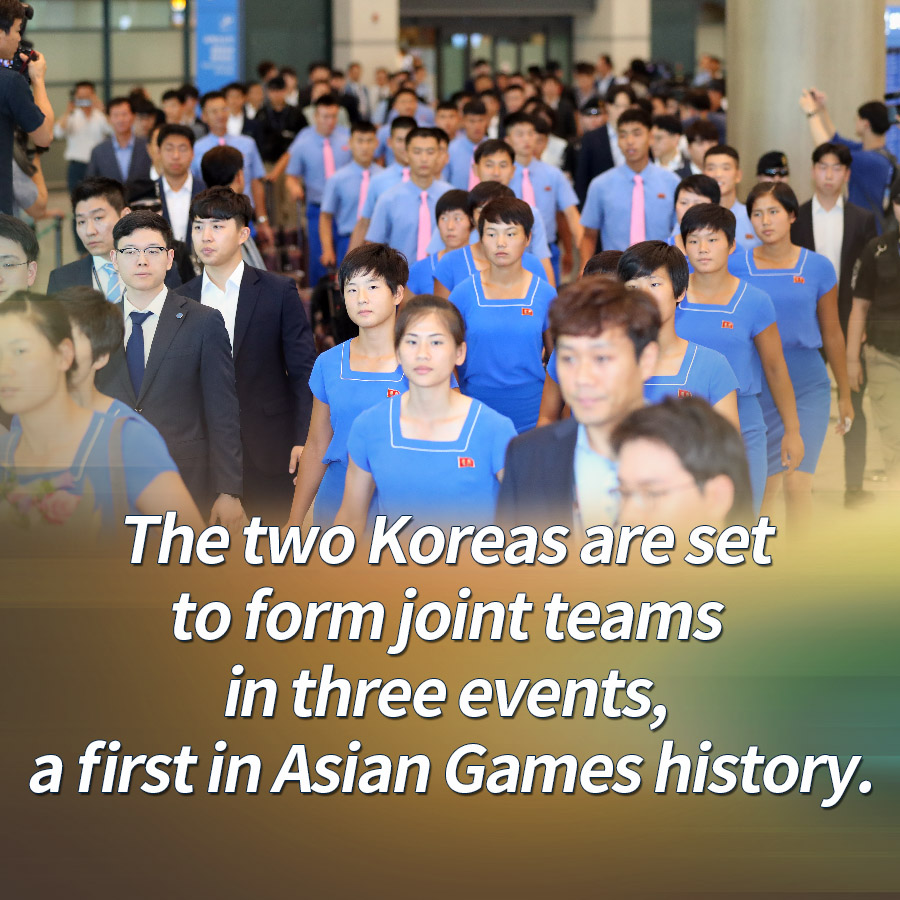 The two Koreas are set to form joint teams in three events, a first in Asian Games history.