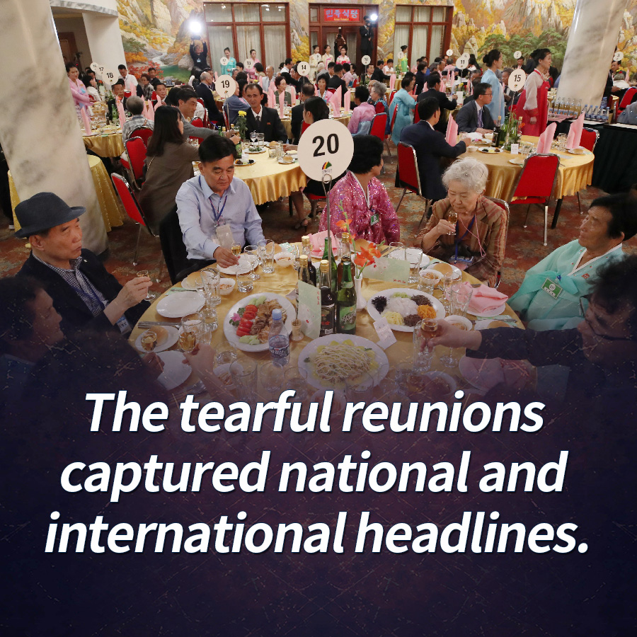 The tearful reunions captured national and international headlines.