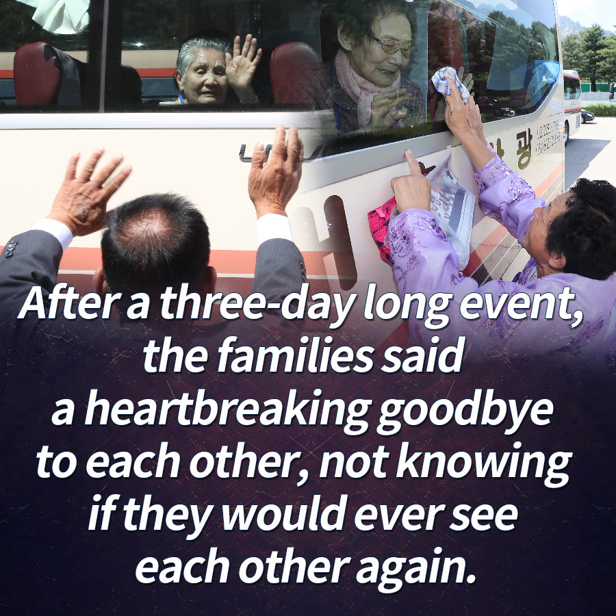 After a three-day long event, the families said a heartbreaking goodbye to each other, not knowing if they would ever see each other again.