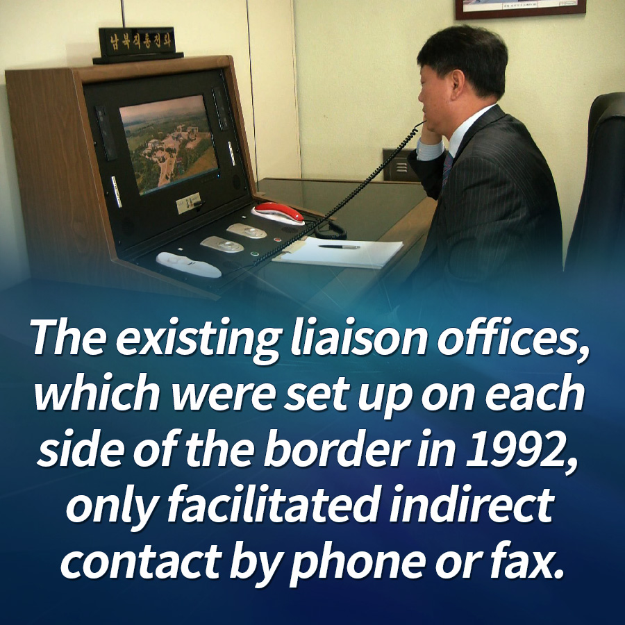 The new office will have officials from South and North Korea stationed to make person-to-person contact, unlike existing communication channels.