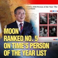 Moon Ranked No. 5 on Time's Person of the Year List
