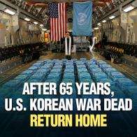 After 65 Years, U.S. Korean War Dead Return Home