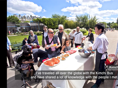 The Kimchi Bus - making its way around the world to spread the word of Korean kimchi [Ryu Si-hyeong, chef] Ep153